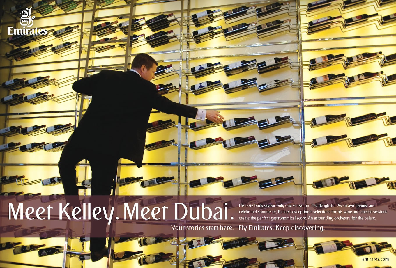 Meet Kelley, Meet Dubai Advertising Campaign by Emirates
