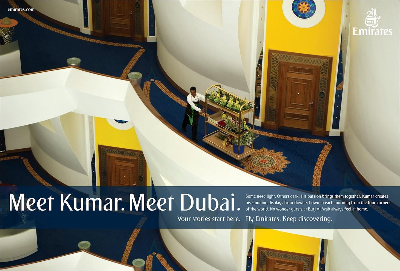 Meet Kumar, Meet Dubai Advertising Campaign by Emirates