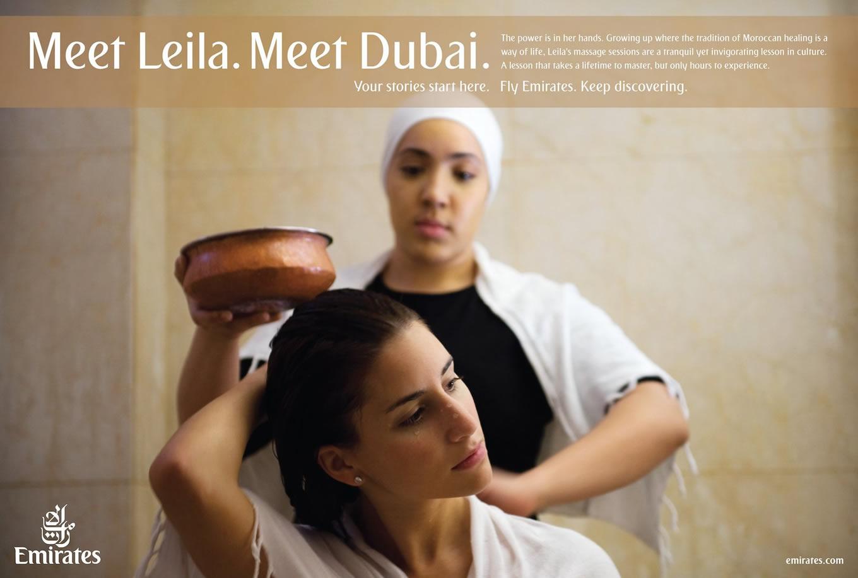 Meet Leila, Meet Dubai Advertising Campaign by Emirates