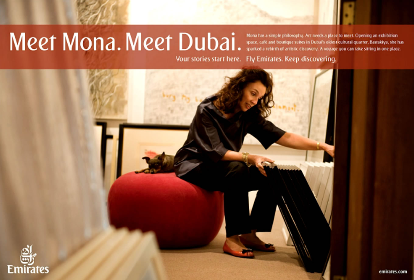 Meet Mona, Meet Dubai Advertising Campaign by Emirates