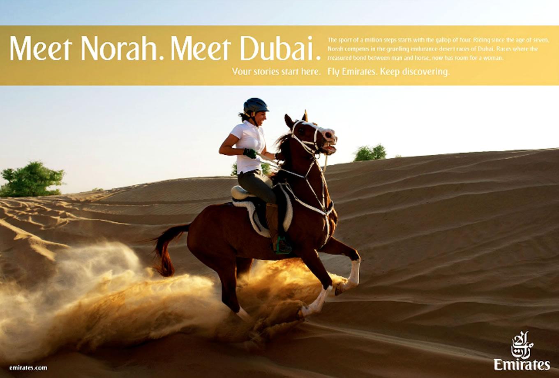 Meet Norah, Meet Dubai Advertising Campaign by Emirates