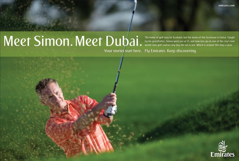 Meet Simon, Meet Dubai Advertising Campaign by Emirates
