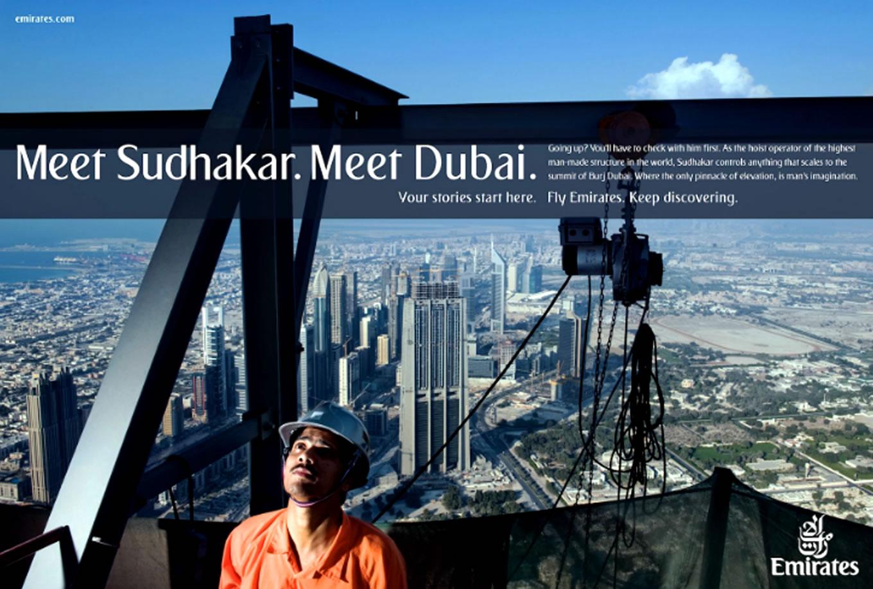 Meet Sudhakar, Meet Dubai Advertising Campaign by Emirates