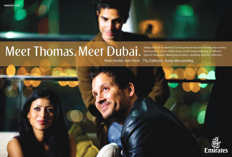 Meet Thomas, Meet Dubai Advertising Campaign by Emirates