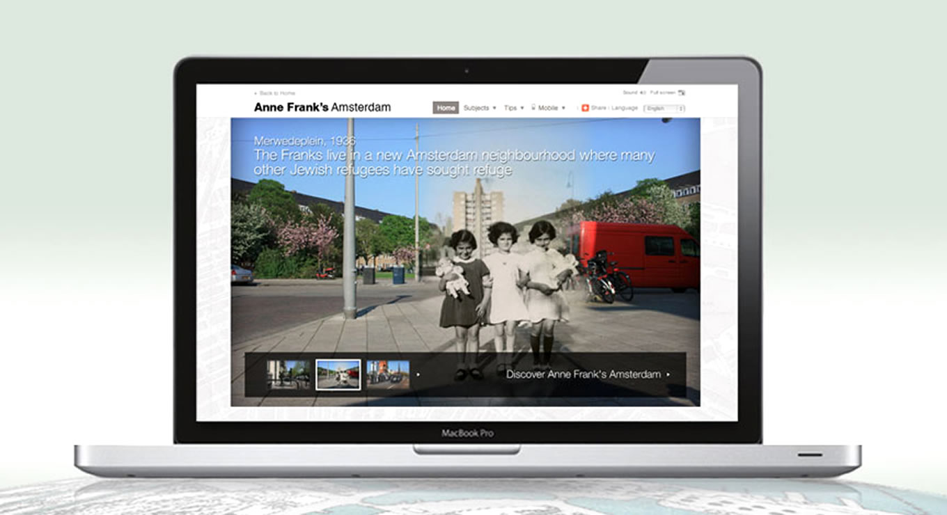Microsite Landing Page Anne Frank House Museum Campaign, Amsterdam