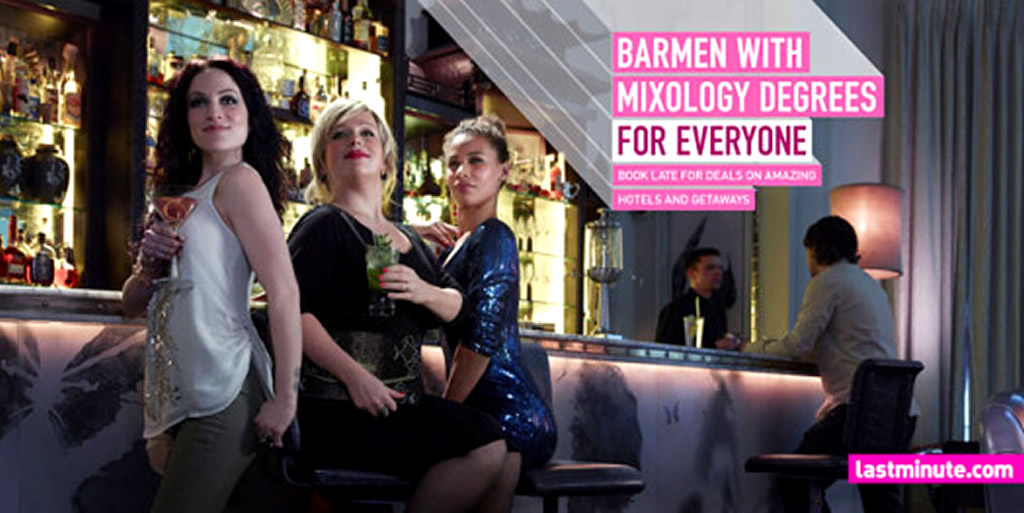 Mixology Degrees, For Everyone Marketing Campaign by Lastminute Dot Com