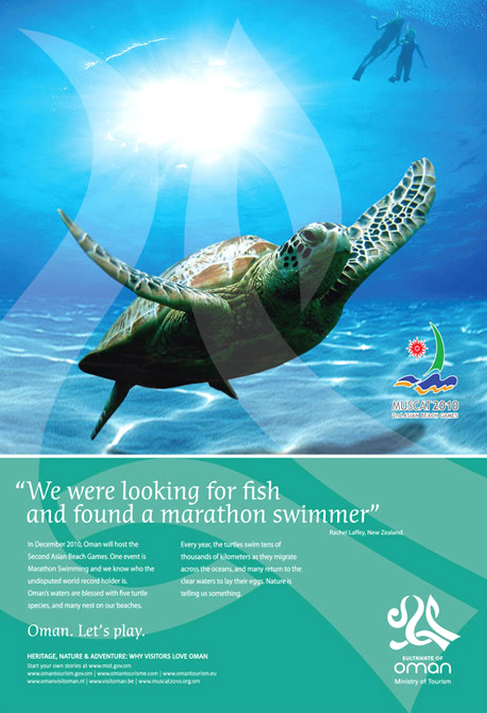 Nature Tourism Advertisement Poster of Oman Sultanate