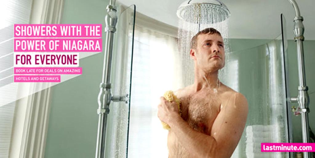 Niagara Showers, For Everyone Marketing Campaign by Lastminute Dot Com