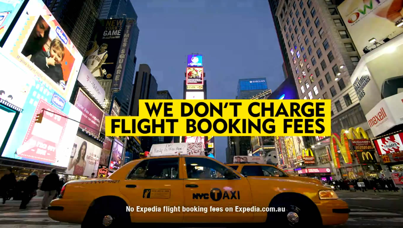No Flight Booking Fees Advertising and Marketing Campaign by Expedia Australia