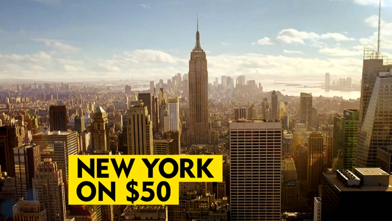 NYC Attractions Under USD 50, No Booking Fees Marketing Campaign by Expedia Australia