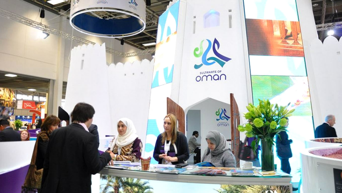 Oman Sultanate Tourism Front Desk at 2012 ITB Berlin