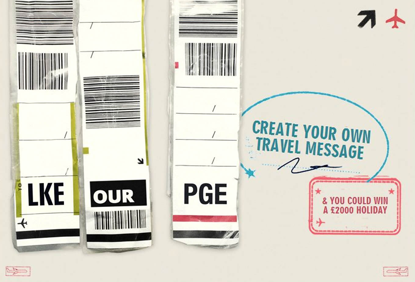 Online Facebook Competition, Luggage Tags Marketing Campaign by Expedia UK
