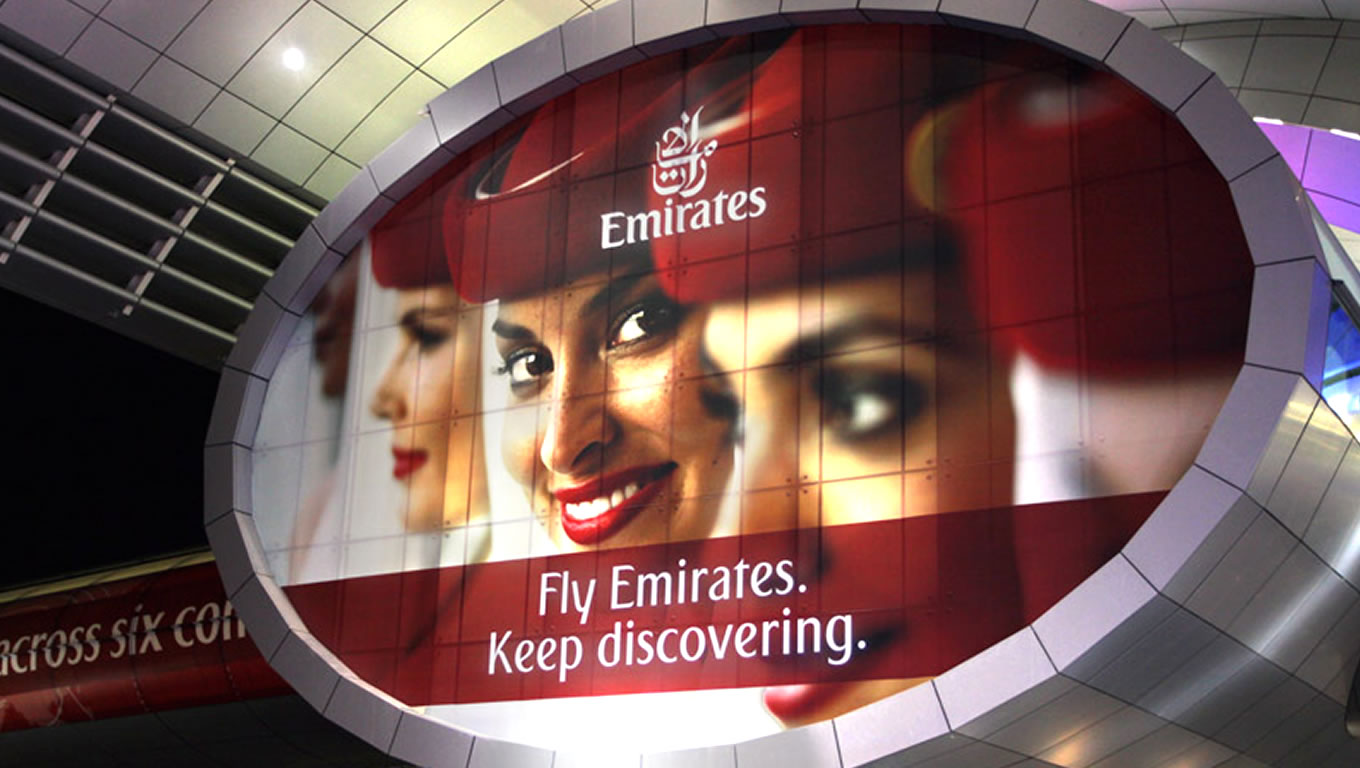Outdoor Advertising of Keep Discovering Marketing Campaign by Emirates