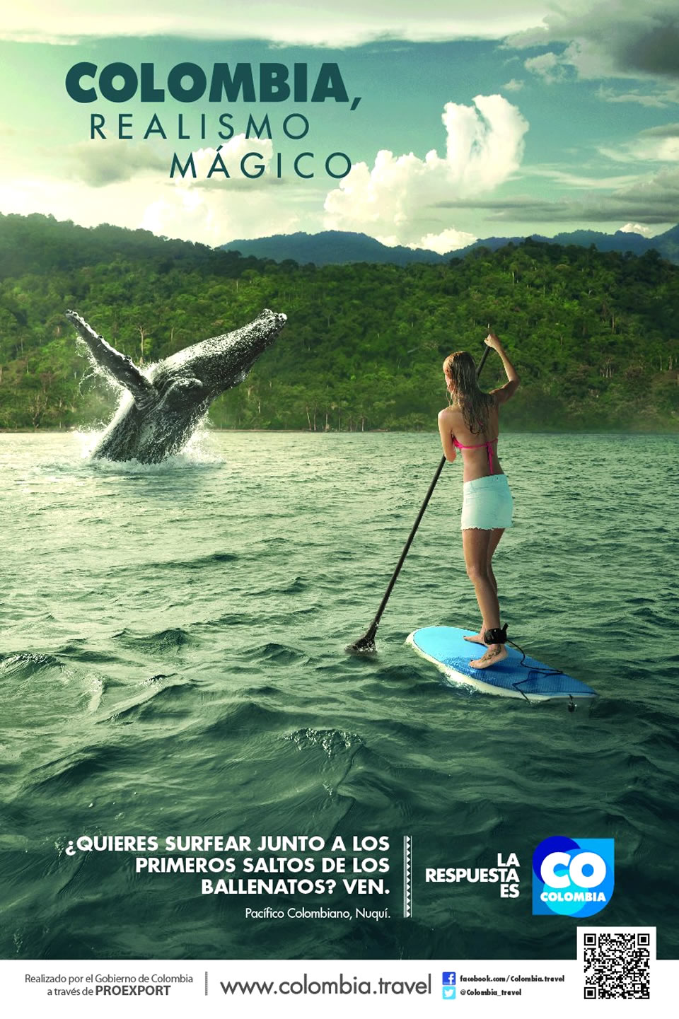 Pacifico Colombiano Tourism Advertisement Poster of Colombia Magical Realism