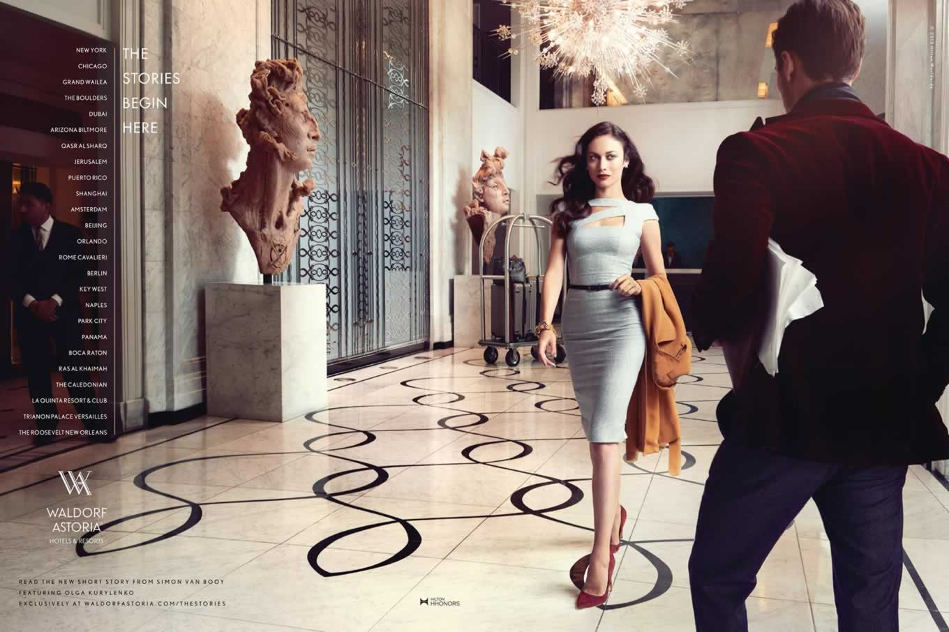 Print Advertising of The Stories Begin Here Campaign by Waldorf Astoria