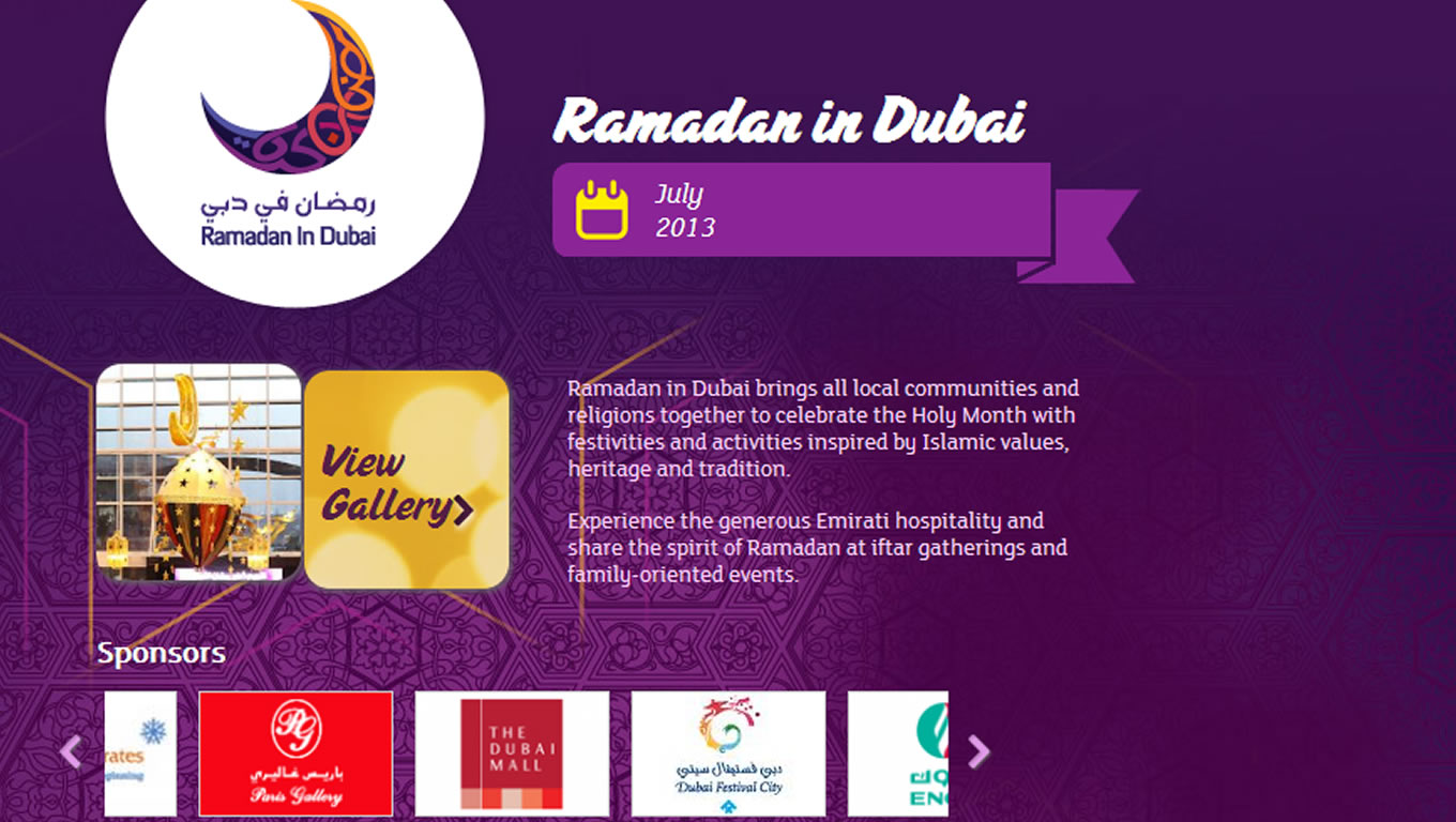 Ramadan in Dubai for Summer is Dubai Tourism Marketing Campaign by DTCM