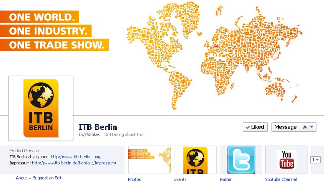 Redesigned Facebook Page for Brand Advertising Campaign by ITB Berlin