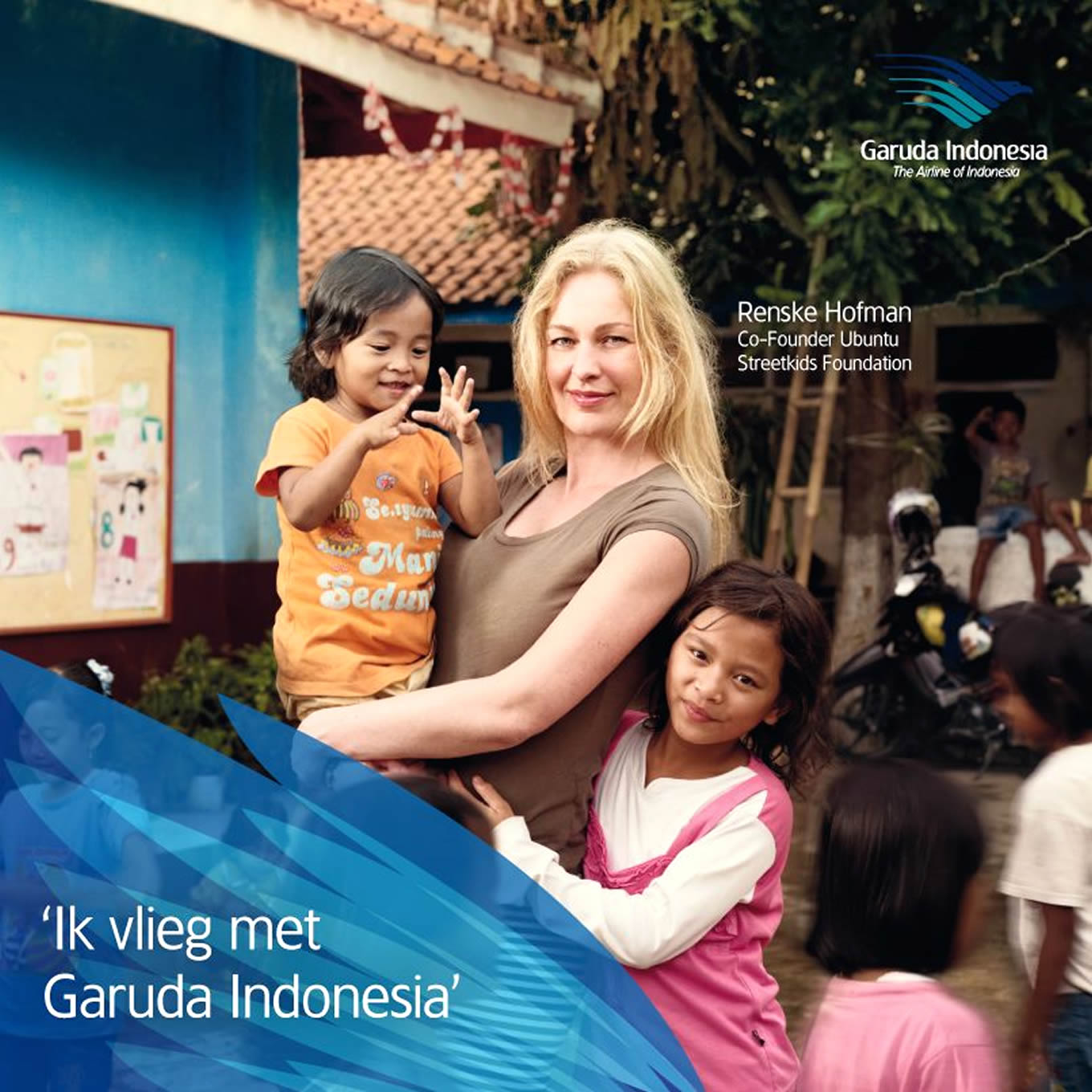Renske Hofman, Ik Vlieg Met Travel Marketing Campaign by Garuda Indonesia Netherland