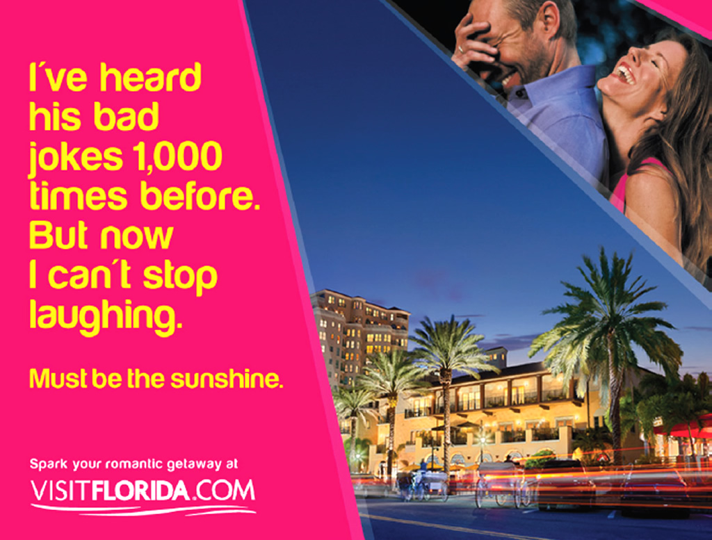 Romantic Getaway, Out of Home Tourism Brand Advertising Campaign by Visit Florida