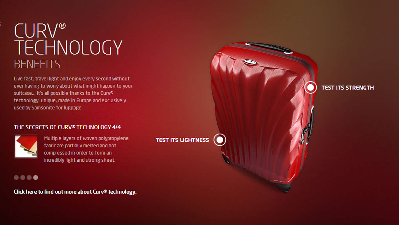 Samsonite Curv Technology Explained for Enjoy Every Second Marketing Campaign