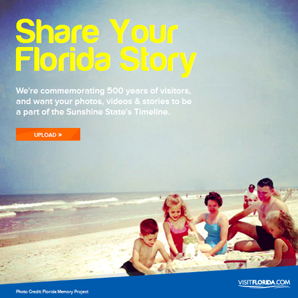 Share Your Florida Story Facebook App Tourism Campaign by Visit Florida