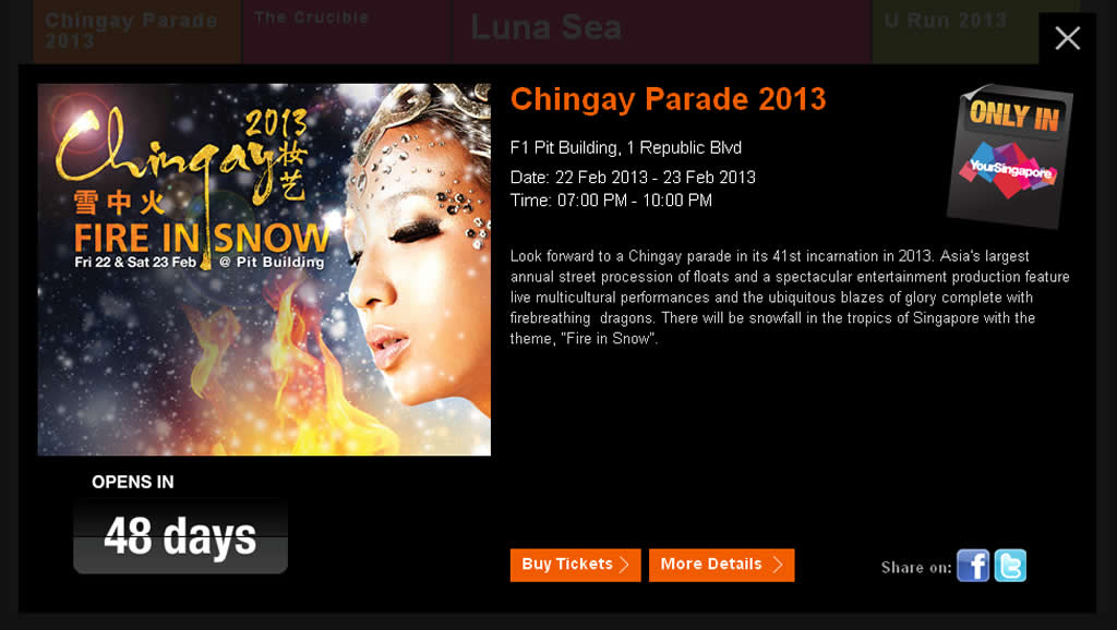 Singapore Chingay Parade, Fire in The Snow