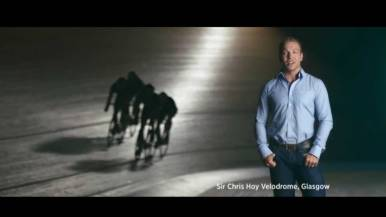 Sir Chris Hoy Velodrome, Glasgow, at Brilliant Moments Campaign