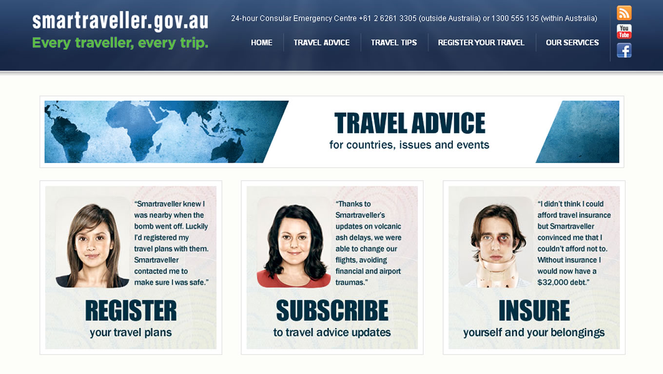 SmarTraveller Travel Insurance Campaign by Australia Government