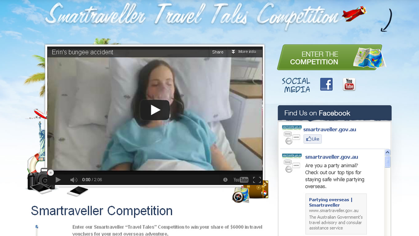 SmarTraveller Travel Tale Competition by Australia Government