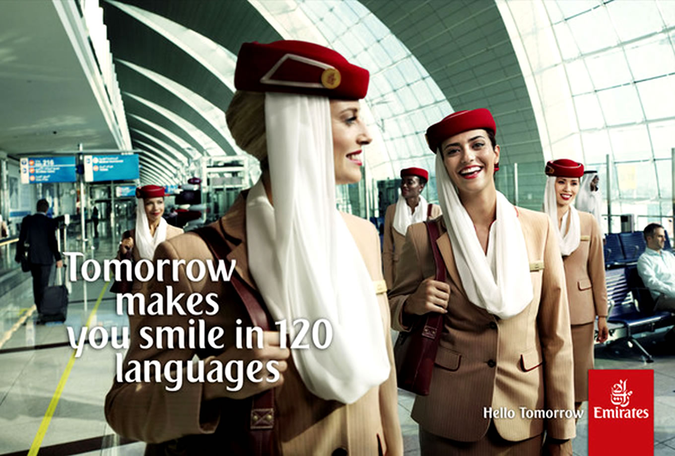 Smile in 120 Languages, Hello Tomorrow Marketing Campaign by Emirates Airlines
