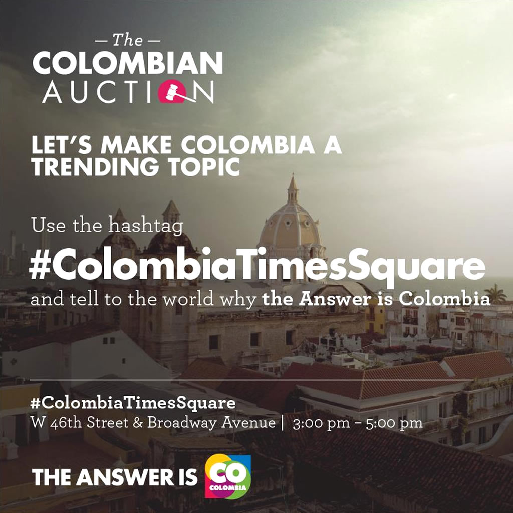 Social Media Engagement for The Colombian Auction Marketing Campaign