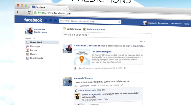 Social Media Integration of KLM Travel Predictions Campaign, Netherlands