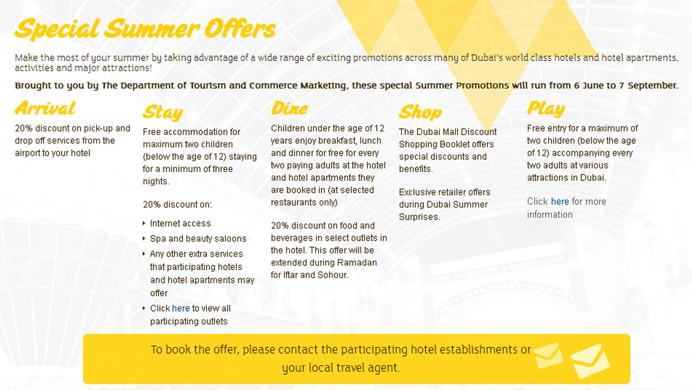 Special Summer Offers for Summer is Dubai Tourism Marketing Campaign by DTCM