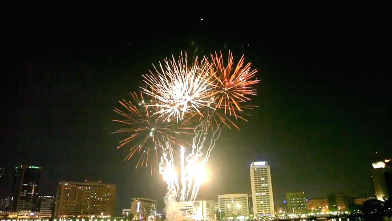 Splendid Fireworks at Eid in Dubai Event Celebration