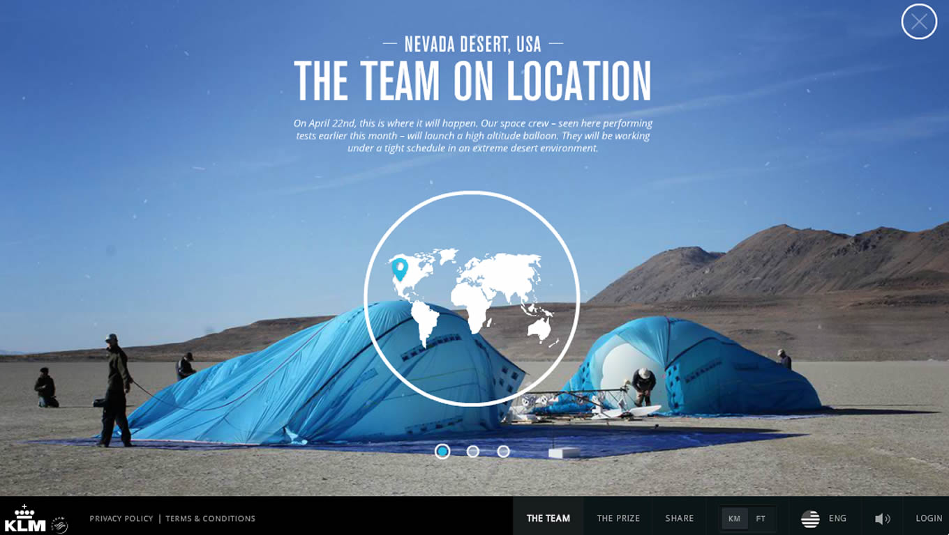 The Space Team of KLM Space Marketing Campaign