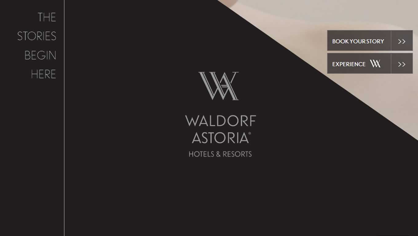 The Stories Begin Here Microsite for Waldorf Astoria Campaign