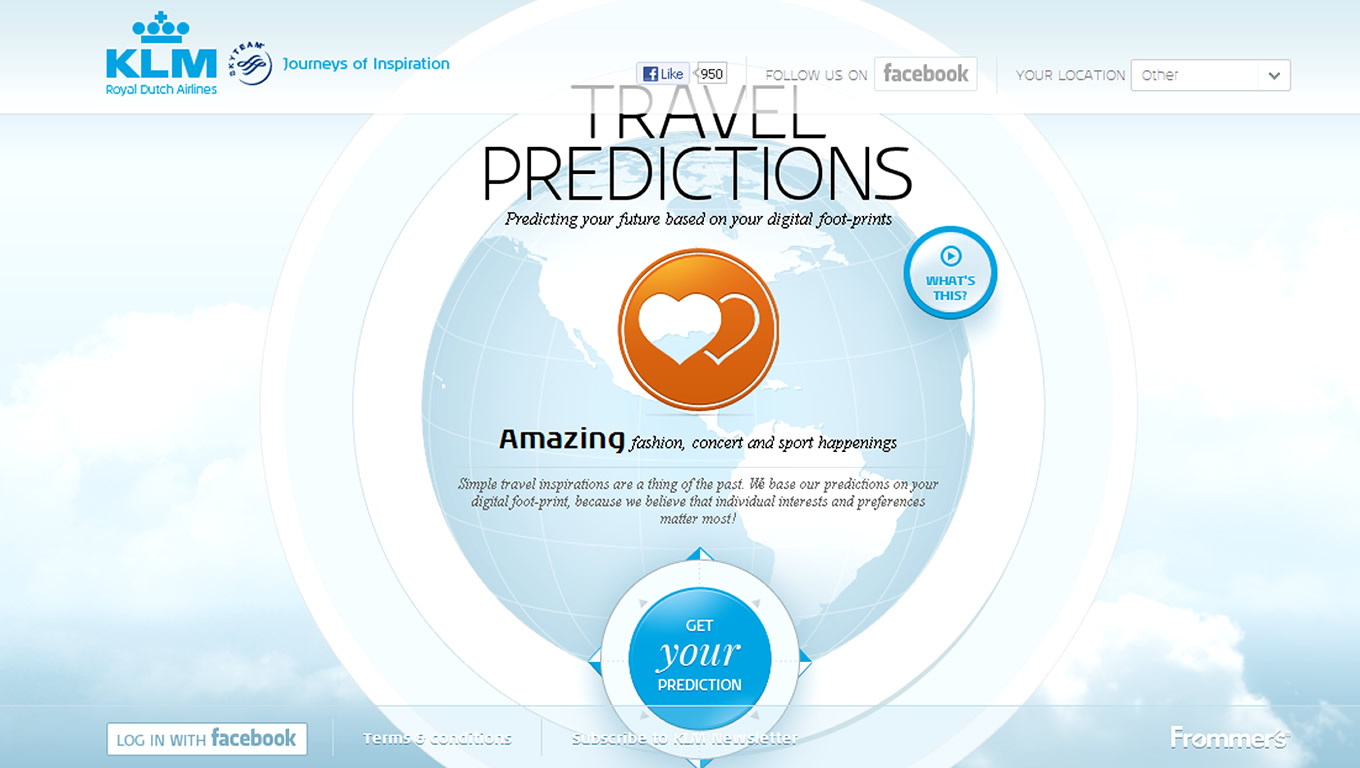 Travel Predictions, Global Marketing Campaign by KLM Netherlands
