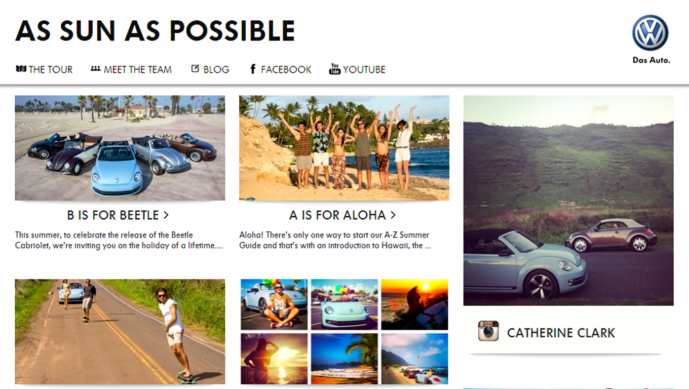 Travel Stories from The Road of VW Beetle Cabriolet Marketing Campaign by Volkswagen