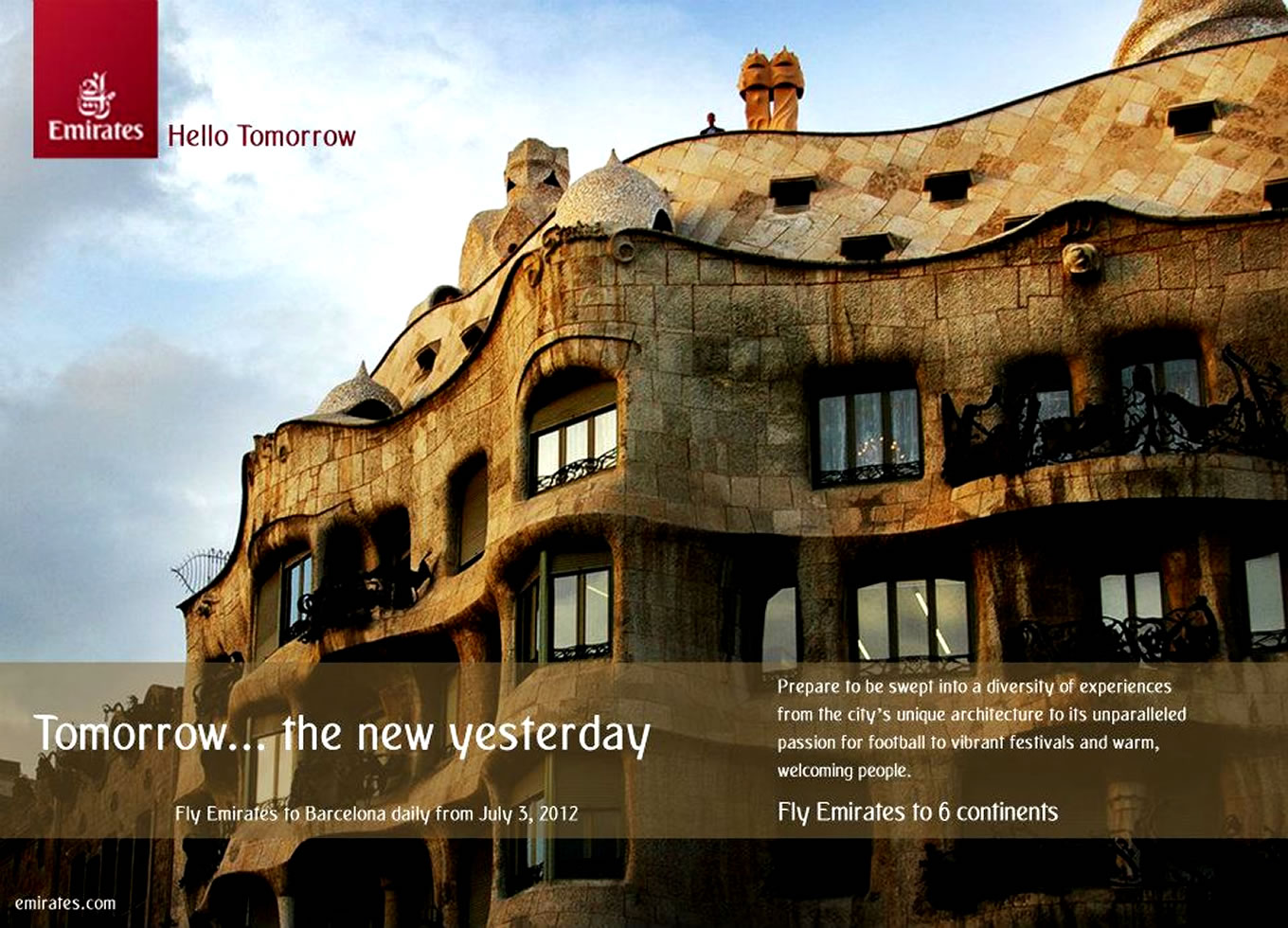 Visit Barcelona, Hello Tomorrow Marketing Campaign by Emirates Airlines