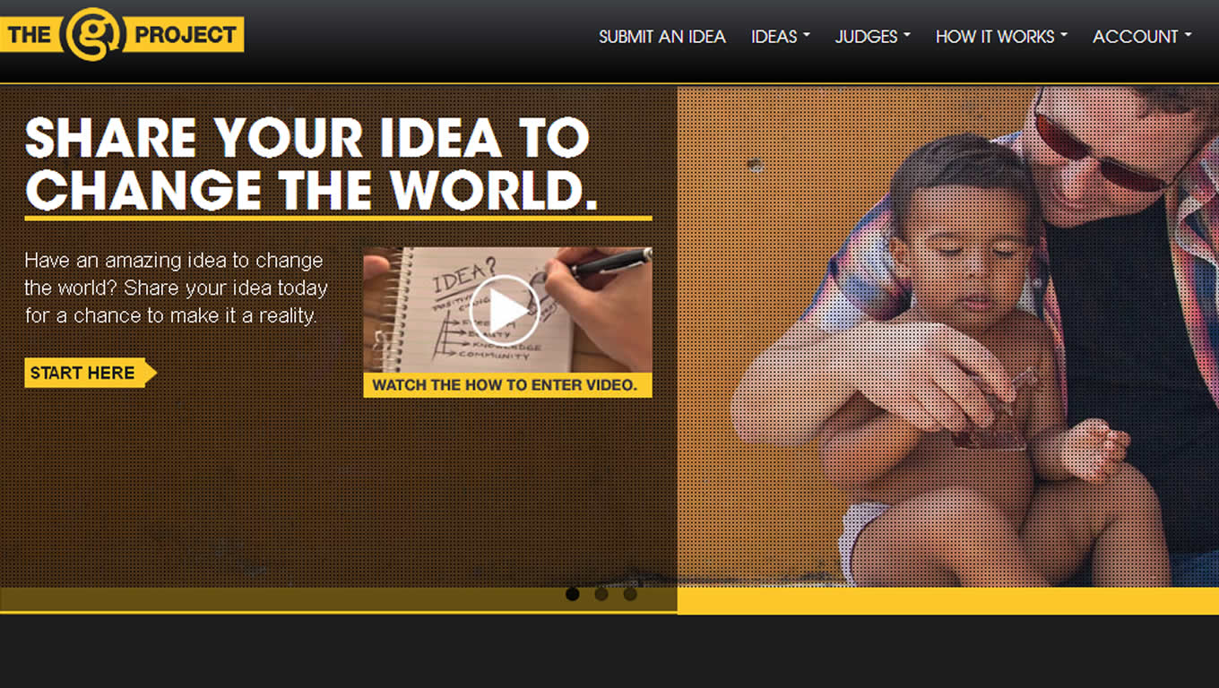 Website Design of The G Project Advertising Campaign by G Adventures