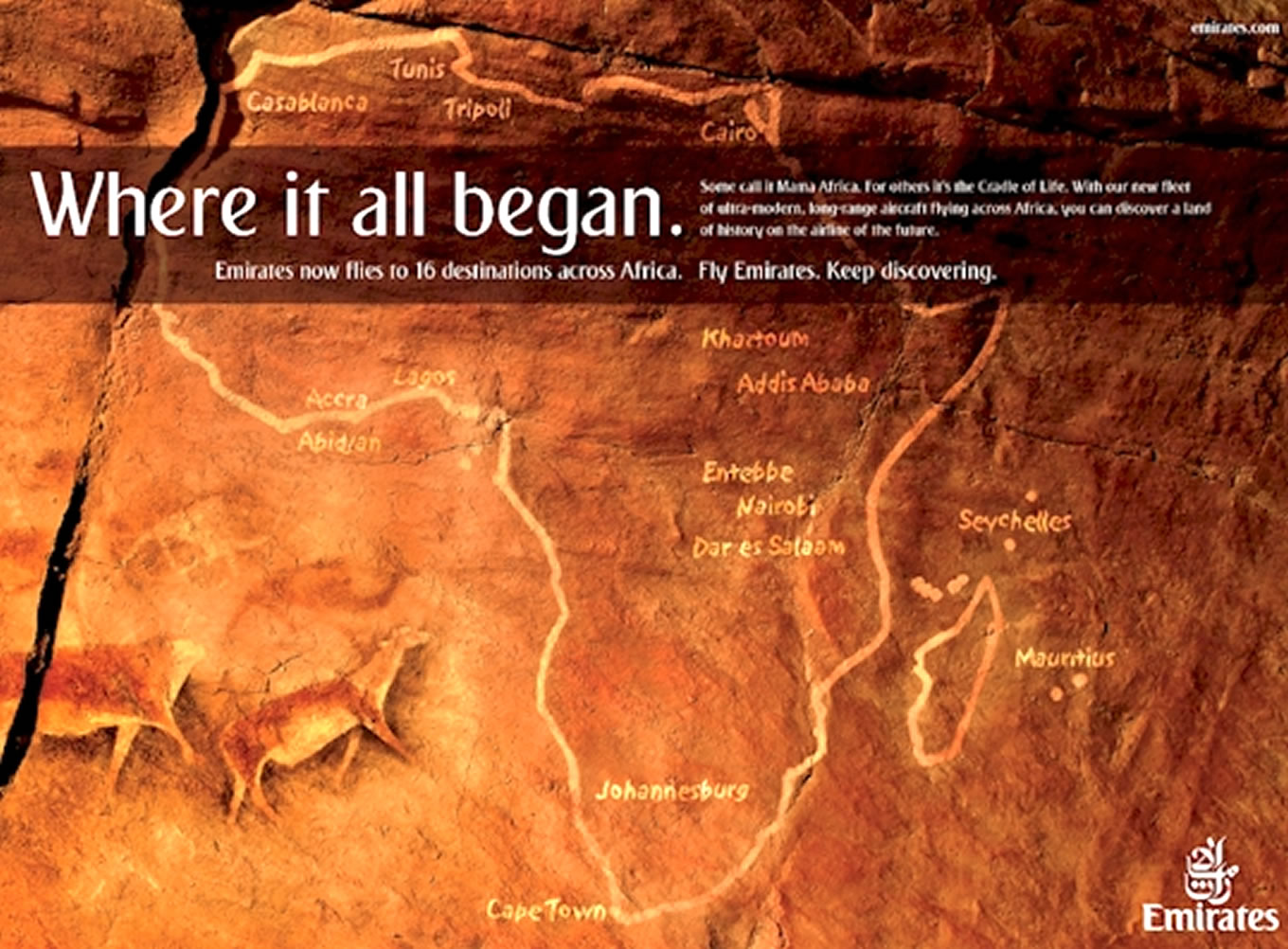 Where It All Began, Keep Discovering Marketing Campaign by Emirates