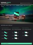 3 Day Forecast of NorwayLights Mobile App by Visitnorway