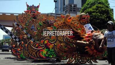 Barong Ireng Float, Culture Parade and Flower Carnival, Surabaya