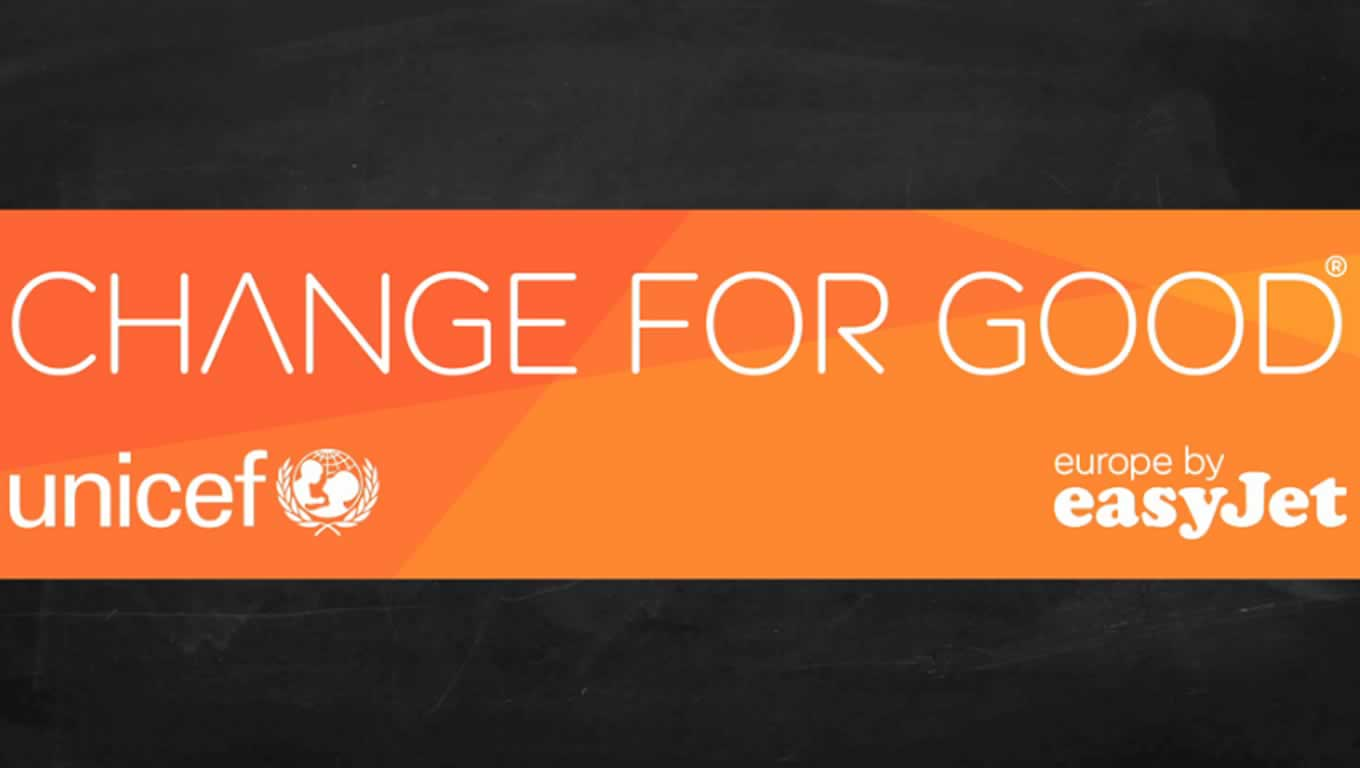 Change for Good Marketing Campaign by easyJet and UNICEF