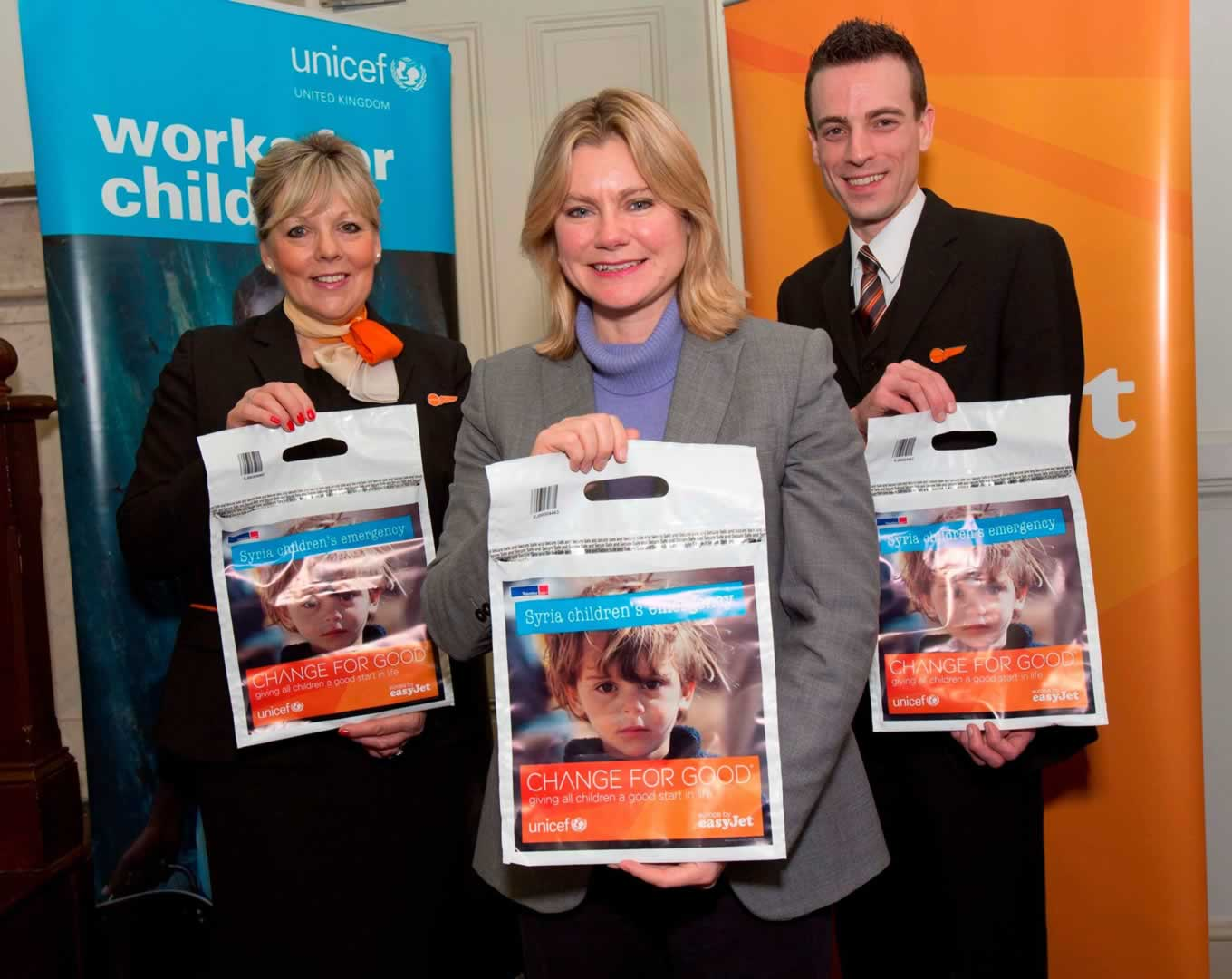 Change for Good Winter Campaign for Syria Kick Off by easyJet and UNICEF