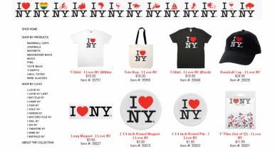 Classic I Love NY Merchandise Collection, I Love NY Webstore, New York