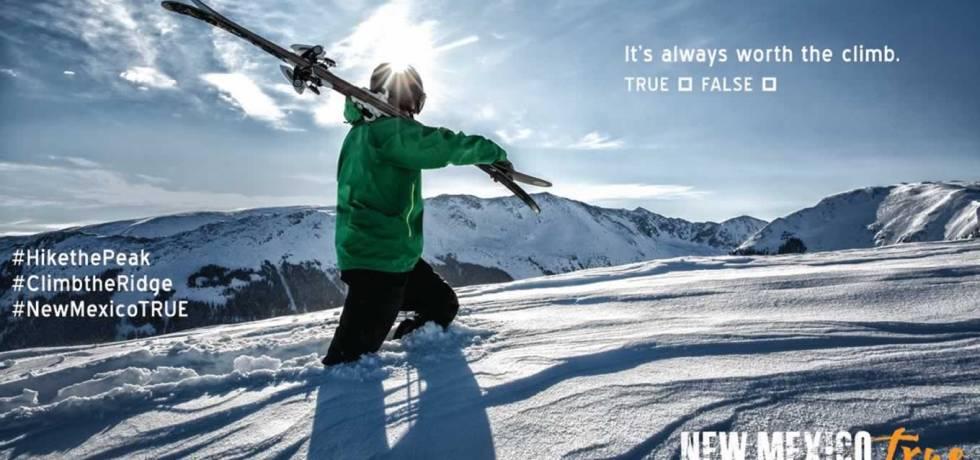 Climb The Ridge Winter Advertising Campaign of New Mexico True