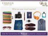 Conrad Carry On Facebook App for Conrad 555 Tour Marketing Campaign