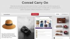 Conrad Carry On Pinterest Board for Conrad 555 Tour Marketing Campaign