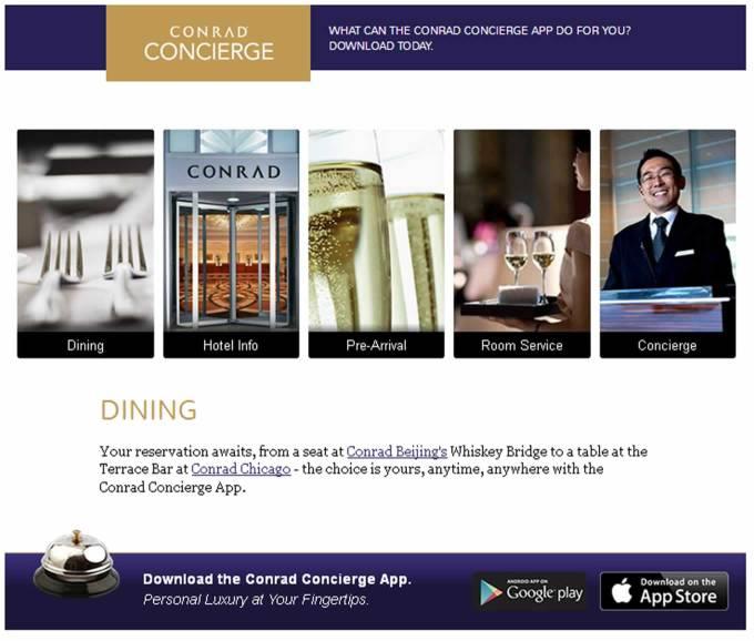 Conrad Concierge Mobile App by Conrad Hotels and Resorts